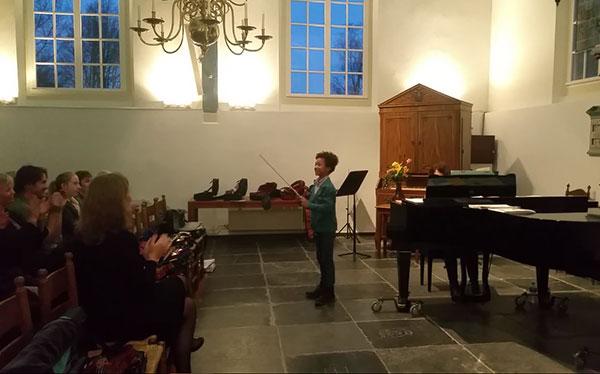 Voorspeelmiddag vioolleerlingen Carmen Eberz